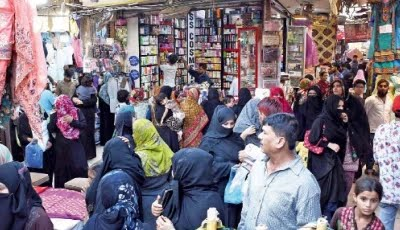 flouting covid sops citizens throng markets as eidul fitr approaches photo online