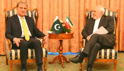 fm qureshi meets his iranian counterpart javad zarif on sidelines of heart of asia conference in dushanbe photo express